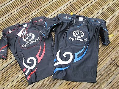 Optimum Five Pad Long Tribal Kids MENS Rugby Long Body Armour black blue red