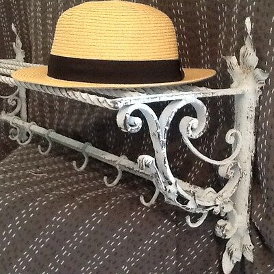 Very Pretty  French Vintage Coat Rack With Shelf Above