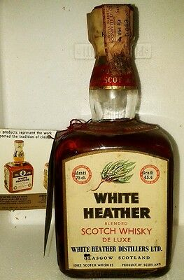 old blended de luxe scotch whisky white heather  cl 75 43,4°