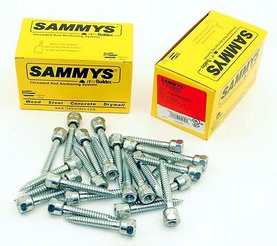 4 boxes (100)  Sammys 3/8-16 x 2-1/2 Threaded Rod Hanger for Wood anchor 8009925
