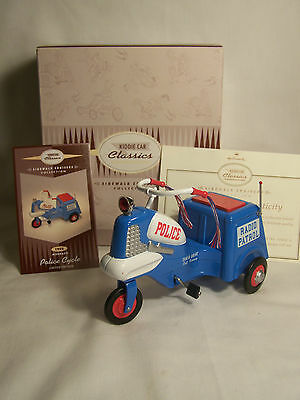 Hallmark 1958 Murray Police Cycle / Kiddie Car Classics Sidewalk Cruiser Nib