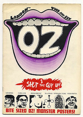 OZ Magazine No.2 Martin Sharp Toad of Whitehall poster March 1967