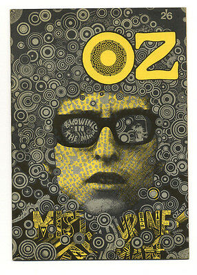 OZ Magazine No.7 Martin Sharp cover art Bob Dylan Blowin in the mind