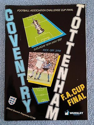 1987 - FA CUP FINAL PROGRAMME - COVENTRY CITY v TOTTENHAM - V.G CONDITION