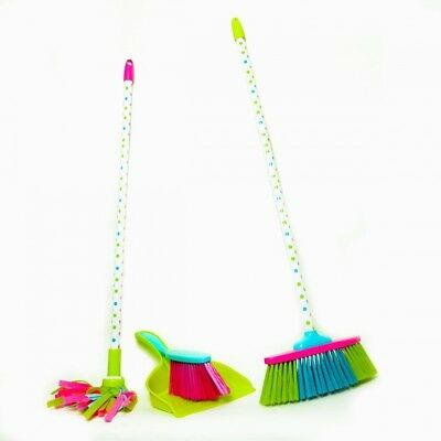 Kids Cleaning Set - Includes Broom, Mop, Dustpan, and Brush. Toys Inc