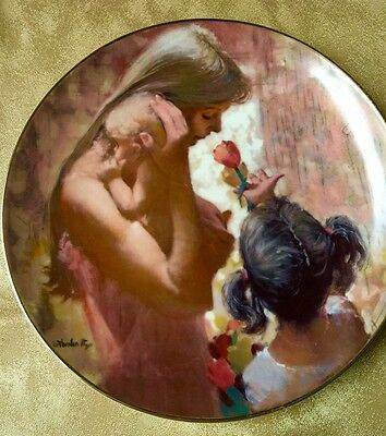 "Beautiful Gift For Wife Or Mother  Hamilton Decorative Plate "" A Gift of Love"""