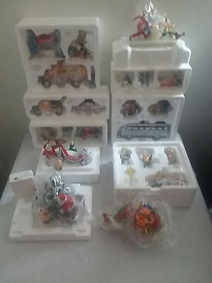Lot of 10 Boxes  Dept.56 Snow Village Accessories Pre Owned