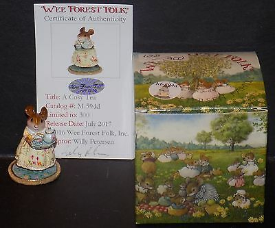 WEE FOREST FOLK A COSY TEA - SUMMER MOUSE M-594d NMIB