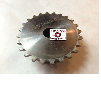 """25B24 1/4"""" Pitch, Chain Size 25, Finished Bore Sprocket, 3/4"""" Bore 2 Set Screw"""