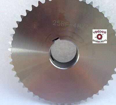"""25B48 1/4"""" Pitch, Chain Size 25, Finished Bore Sprocket, 5/8"""" Bore 2 Set Screw"""