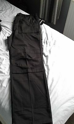 mens/boys black brand warrior work trousers size large bnwt
