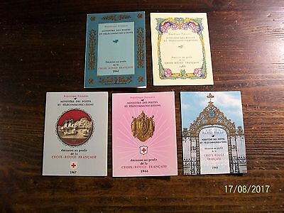 Timbre France lots carnets croix rouge neuf** 1964-1965-1966-1967-1968