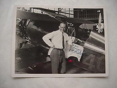 """Jimmy Doolittle- Rare Early 1929 Photo Signed- The """"laird Solution"""" Plane !"""