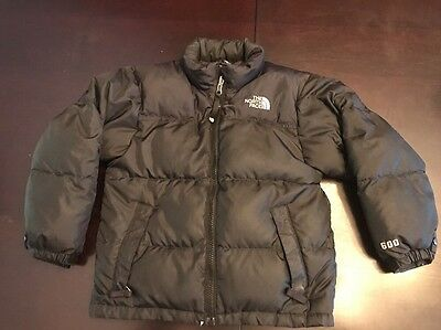 Boys The North Face Black 600 Coat Winter Jacket Size XS 5/6