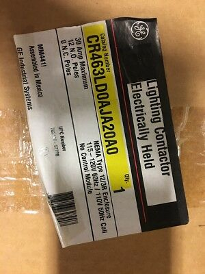 GE CR463LD0AJA20A0 Lighting Contactor Electrically Held NEW IN BOX