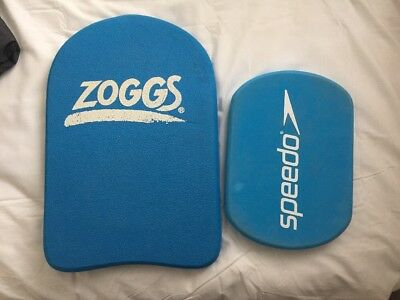 Large  43cm Zoggs Swim Float Kick Board And Small Speedo Board