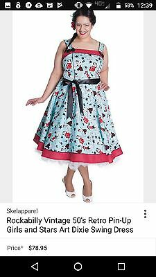 474fde07f31 HELL BUNNY DIXIE 50 S Dress Pinup Girls Plus Size Retro Mid-Century ...
