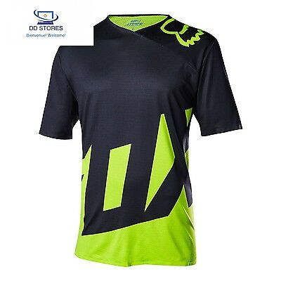 Fox Attack - Maillot manches courtes jaune 2017 maillot cyclisme homme