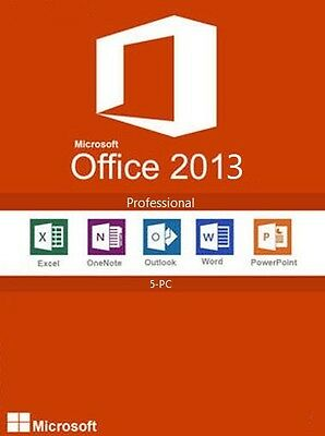 Microsoft Office 2013 Professional with 5 User CALs | Full Retail Media | FPP