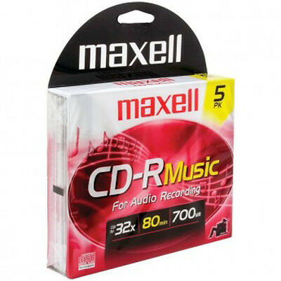 Maxell 625132 80-Minute Music CD-Rs (5 pk)