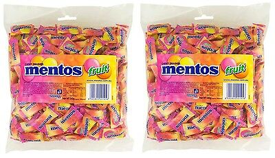 Bulk Lolly 1.08kg x Mentos Fruit Pink Pillow Pack Minty Chews Buffet Favors