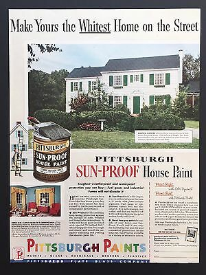 1941 PITTSBURGH Paint industrial finish wide scale color chart ...