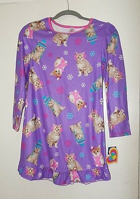 Girl's size L10/12 or XL 14/16 Long Sleeve Flannel Nightgown NWT