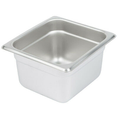 12x Bain Marie Tray / Steam Pan / Gastronorm 1/6 Size 100mm Deep Stainless Steel