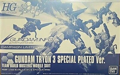HG 1/144 Build Fighters Try Gundam Tryon 3 Special Plated Ver. Campaign Limited
