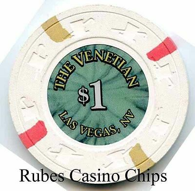 1.00 Chip from the Venetian Casino in Las Vegas Nevada Small Inlay
