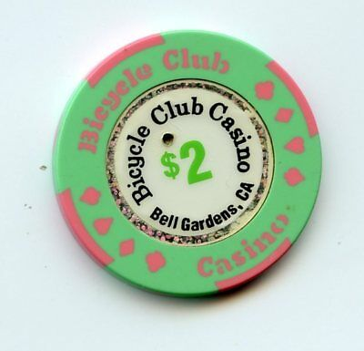 2.00 Chip from the Bicycle Club Casino in Bell Gardens California