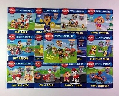 Paw Patrol Childrens Books Phonics Learning to Read Box Set Lot 12