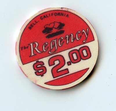 2.00 Chip from the Regency Casino in Bell California