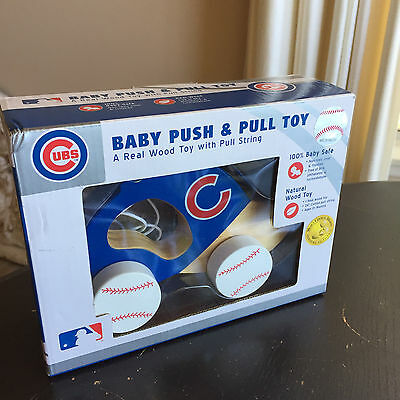 Chicago Cubs Baseball Baby Push & Pull Toys Keepsake Set RARE NEW