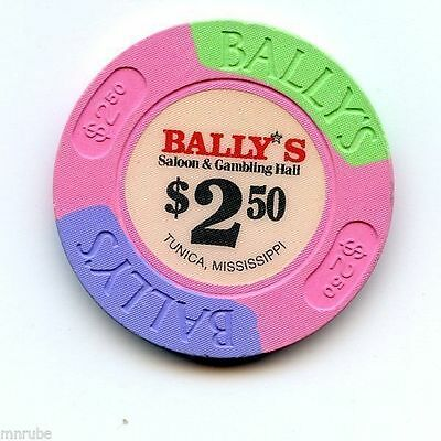 2.50 Chip from the Ballys Casino in Tunica Mississippi