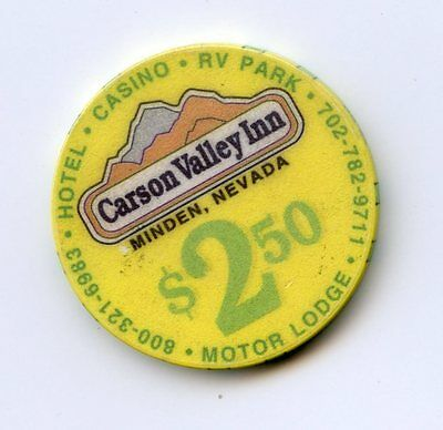 2.50 Chip from the Carson Valley Casino in Minden Nevada