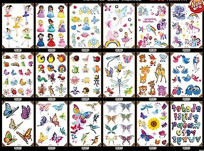 UK boy girl  KIds Party crystal shiny Glitter Temporary Tattoo Stickers Body Art
