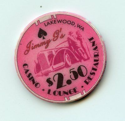 2.50 Chip from the Jimmy Gs Casino in Lakewood Washington