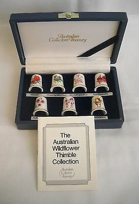 Box Set of 7 China Thimbles - The Australian Wildflower Thimble Collections