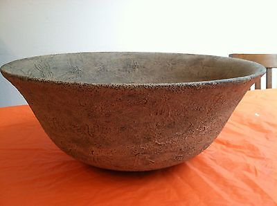 Antique Chinese Huge Jade? Stone Bowl W/ Chinese Letters