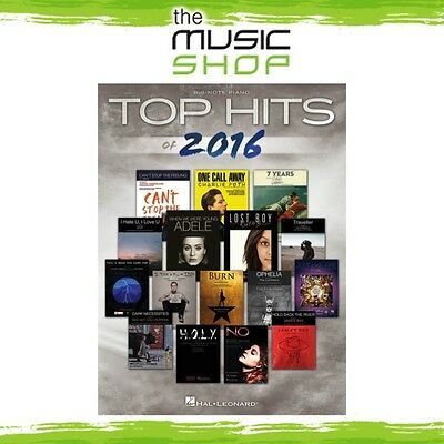 New Top Hits of 2016 Music Book for Big Note Piano - Beginner Piano Songbook