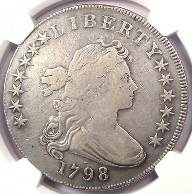 1798 Draped Bust Silver Dollar $1 - NGC Fine Details - Rare Certified Coin!