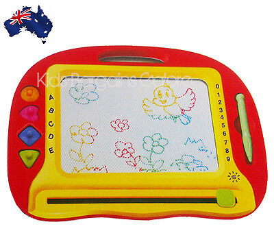 Aus Kids LARGE Sketch Pad Magnetic Colourful Drawing Board/Magic Writing Board