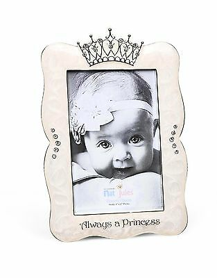"DEMDACO Crown Photo Frame, Always A Princess, 4""x6"""