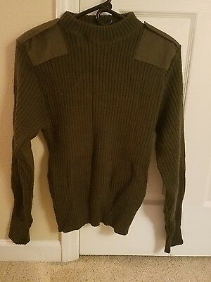 USMC MARSOC OD Green Wool Pullover Military Sweaters Size 38