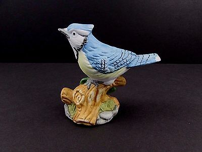 """Whitehall Society Porcelain Figurine The American Blue Jay ~  3 1/4"""" H"""