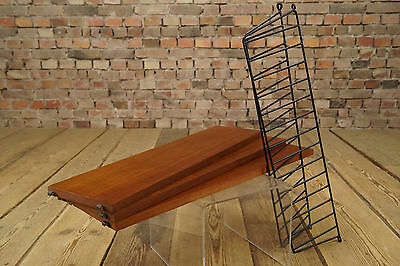 60er Danish Original Nisse String Shelf Wall Teak System Bookshelf 60s