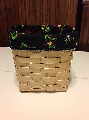 Christmas Bells Tall Tissue Basket Liner and Longaberger Recipe Card