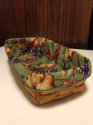 Bread Basket Liner from Longaberger Napa Orchard Fabric