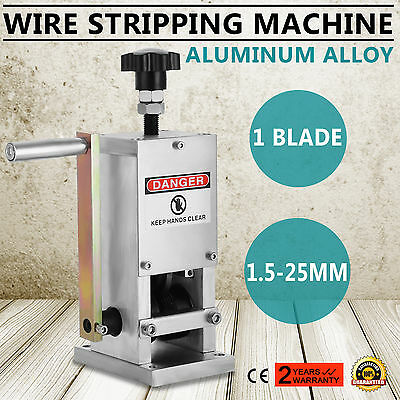 Cable Wire Stripping  Machine 1 Blade Hand Crank 55-60 feet/min HIGH QUALITY
